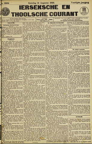 Ierseksche en Thoolsche Courant 1923-08-11