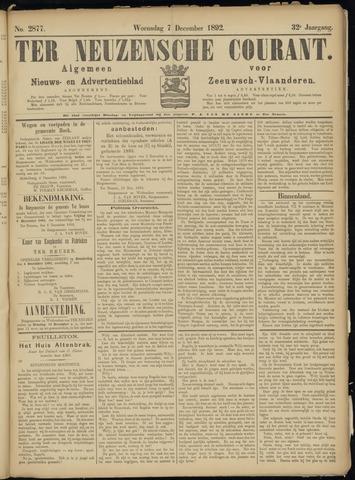 Ter Neuzensche Courant. Algemeen Nieuws- en Advertentieblad voor Zeeuwsch-Vlaanderen / Neuzensche Courant ... (idem) / (Algemeen) nieuws en advertentieblad voor Zeeuwsch-Vlaanderen 1892-12-07