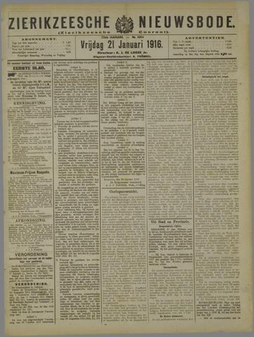 Zierikzeesche Nieuwsbode 1916-01-21