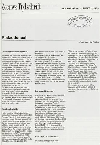 Zeeuws Tijdschrift 1994-01-01