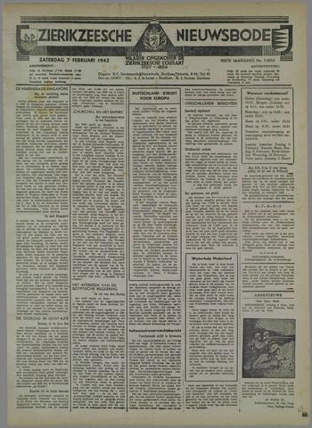 Zierikzeesche Nieuwsbode 1942-02-07