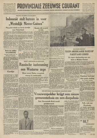 Provinciale Zeeuwse Courant 1953-12-02