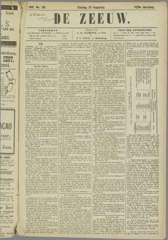 De Zeeuw. Christelijk-historisch nieuwsblad voor Zeeland 1891-08-25