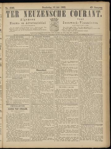 Ter Neuzensche Courant. Algemeen Nieuws- en Advertentieblad voor Zeeuwsch-Vlaanderen / Neuzensche Courant ... (idem) / (Algemeen) nieuws en advertentieblad voor Zeeuwsch-Vlaanderen 1902-07-10