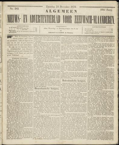 Ter Neuzensche Courant. Algemeen Nieuws- en Advertentieblad voor Zeeuwsch-Vlaanderen / Neuzensche Courant ... (idem) / (Algemeen) nieuws en advertentieblad voor Zeeuwsch-Vlaanderen 1870-12-24