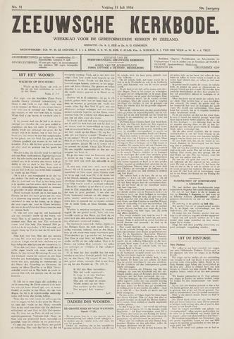 Zeeuwsche kerkbode, weekblad gewijd aan de belangen der gereformeerde kerken/ Zeeuwsch kerkblad 1936-07-31