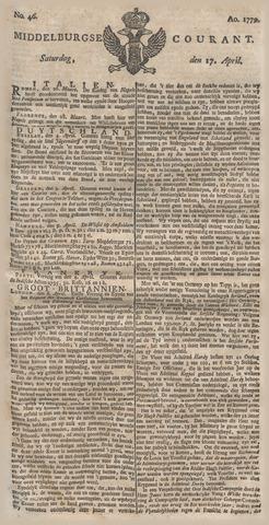 Middelburgsche Courant 1779-04-17