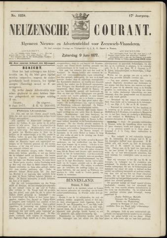 Ter Neuzensche Courant. Algemeen Nieuws- en Advertentieblad voor Zeeuwsch-Vlaanderen / Neuzensche Courant ... (idem) / (Algemeen) nieuws en advertentieblad voor Zeeuwsch-Vlaanderen 1877-06-09