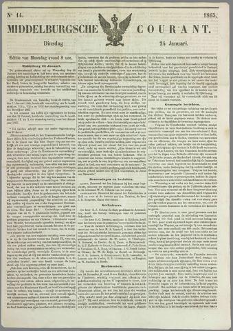 Middelburgsche Courant 1865-01-24