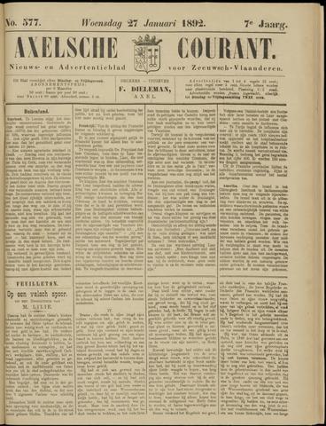Axelsche Courant 1892-01-27