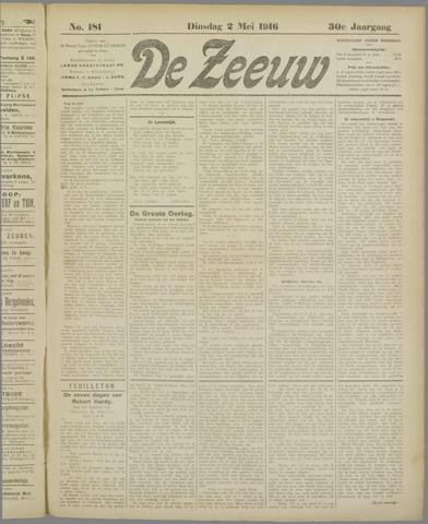 De Zeeuw. Christelijk-historisch nieuwsblad voor Zeeland 1916-05-02