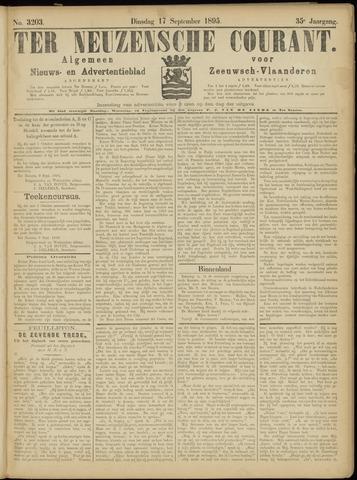 Ter Neuzensche Courant. Algemeen Nieuws- en Advertentieblad voor Zeeuwsch-Vlaanderen / Neuzensche Courant ... (idem) / (Algemeen) nieuws en advertentieblad voor Zeeuwsch-Vlaanderen 1895-09-17