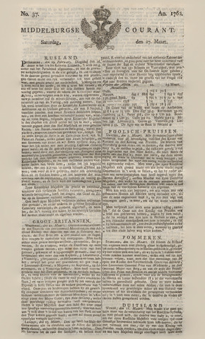 Middelburgsche Courant 1762-03-27