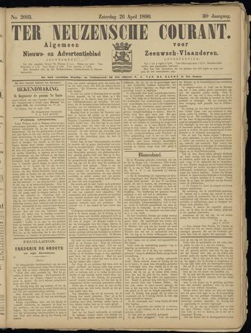 Ter Neuzensche Courant. Algemeen Nieuws- en Advertentieblad voor Zeeuwsch-Vlaanderen / Neuzensche Courant ... (idem) / (Algemeen) nieuws en advertentieblad voor Zeeuwsch-Vlaanderen 1890-04-26