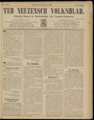 Ter Neuzensch Volksblad. Vrijzinnig nieuws- en advertentieblad voor Zeeuwsch- Vlaanderen / Zeeuwsch Nieuwsblad. Nieuws- en advertentieblad voor Zeeland 1916-09-20
