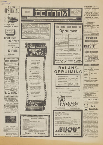 de Faam en de Faam/de Vlissinger 1954