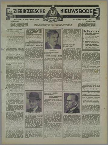 Zierikzeesche Nieuwsbode 1940-09-09