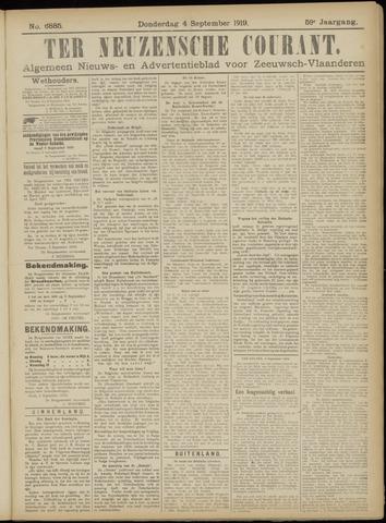 Ter Neuzensche Courant. Algemeen Nieuws- en Advertentieblad voor Zeeuwsch-Vlaanderen / Neuzensche Courant ... (idem) / (Algemeen) nieuws en advertentieblad voor Zeeuwsch-Vlaanderen 1919-09-04