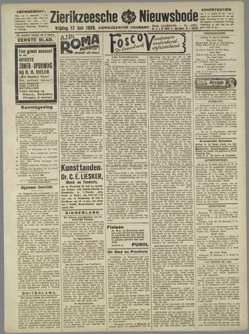 Zierikzeesche Nieuwsbode 1925-07-17