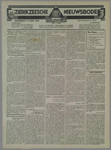 Zierikzeesche Nieuwsbode 1936-04-16