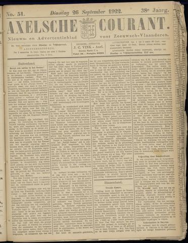 Axelsche Courant 1922-09-26