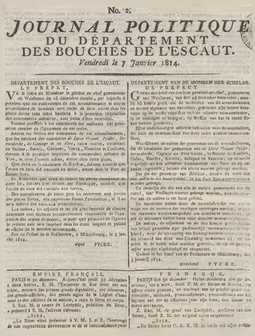 Middelburgsche Courant 1814-01-07