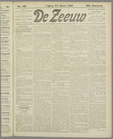 De Zeeuw. Christelijk-historisch nieuwsblad voor Zeeland 1916-03-24