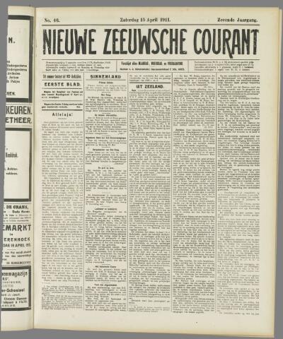 Nieuwe Zeeuwsche Courant 1911-04-15