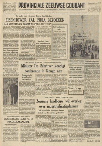 Provinciale Zeeuwse Courant 1959-11-04