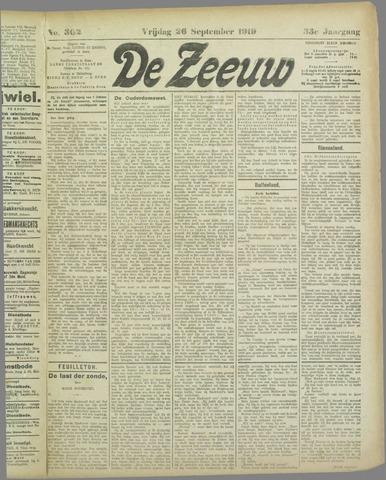De Zeeuw. Christelijk-historisch nieuwsblad voor Zeeland 1919-09-26