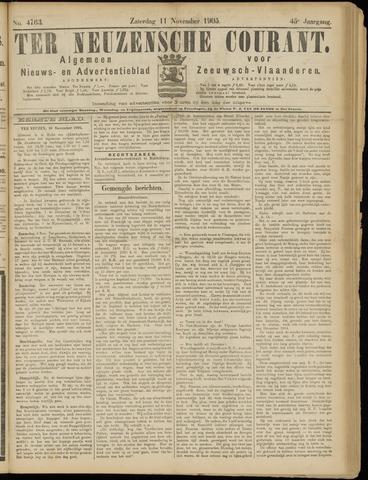 Ter Neuzensche Courant. Algemeen Nieuws- en Advertentieblad voor Zeeuwsch-Vlaanderen / Neuzensche Courant ... (idem) / (Algemeen) nieuws en advertentieblad voor Zeeuwsch-Vlaanderen 1905-11-11