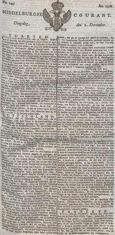 Middelburgsche Courant 1778-12-01