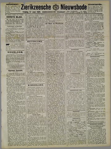 Zierikzeesche Nieuwsbode 1921-06-17