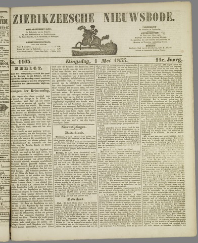 Zierikzeesche Nieuwsbode 1855-05-01