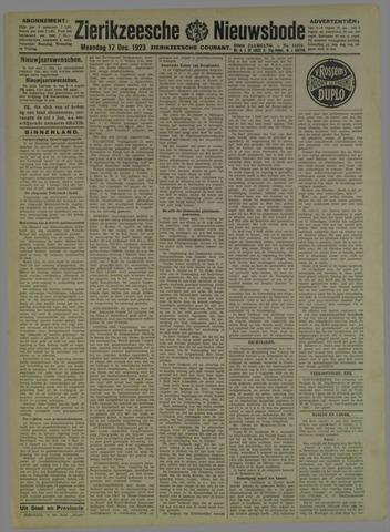 Zierikzeesche Nieuwsbode 1923-12-17