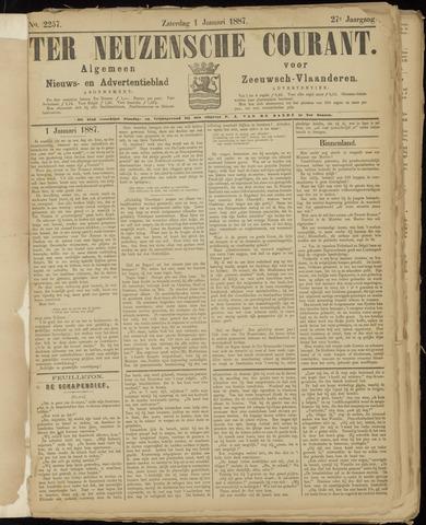 Ter Neuzensche Courant. Algemeen Nieuws- en Advertentieblad voor Zeeuwsch-Vlaanderen / Neuzensche Courant ... (idem) / (Algemeen) nieuws en advertentieblad voor Zeeuwsch-Vlaanderen 1887-01-01