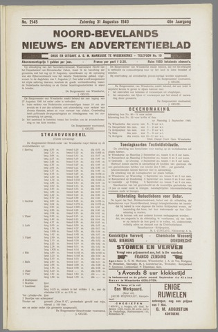Noord-Bevelands Nieuws- en advertentieblad 1940-08-31