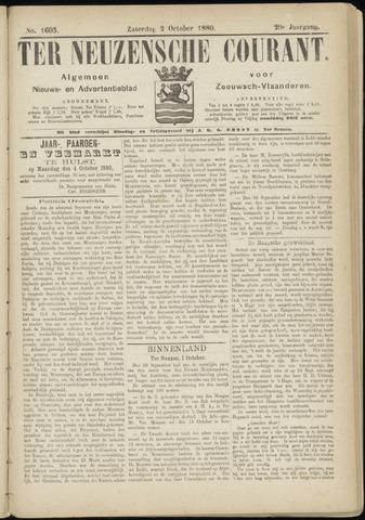Ter Neuzensche Courant. Algemeen Nieuws- en Advertentieblad voor Zeeuwsch-Vlaanderen / Neuzensche Courant ... (idem) / (Algemeen) nieuws en advertentieblad voor Zeeuwsch-Vlaanderen 1880-10-02