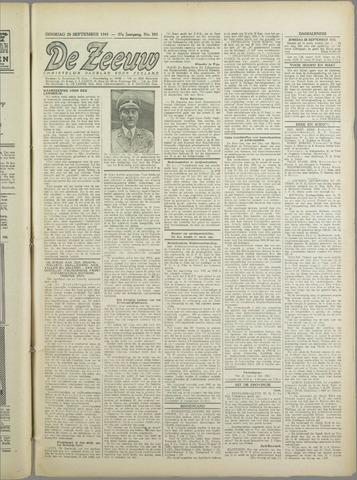 De Zeeuw. Christelijk-historisch nieuwsblad voor Zeeland 1943-09-28