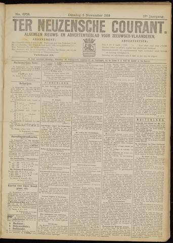 Ter Neuzensche Courant. Algemeen Nieuws- en Advertentieblad voor Zeeuwsch-Vlaanderen / Neuzensche Courant ... (idem) / (Algemeen) nieuws en advertentieblad voor Zeeuwsch-Vlaanderen 1918-11-05