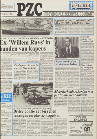 Provinciale Zeeuwse Courant 1985-10-08
