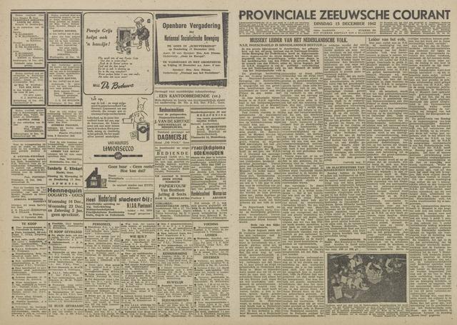 Provinciale Zeeuwse Courant 1942-12-15