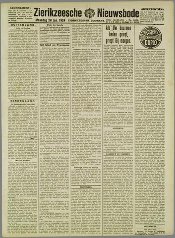 Zierikzeesche Nieuwsbode 1924-01-28