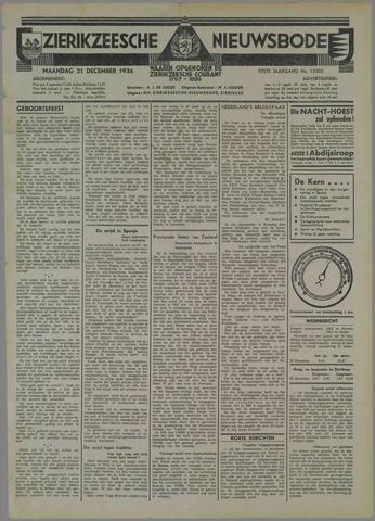 Zierikzeesche Nieuwsbode 1936-12-21