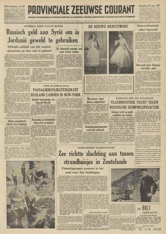 Provinciale Zeeuwse Courant 1957-08-27