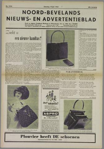 Noord-Bevelands Nieuws- en advertentieblad 1965-07-17