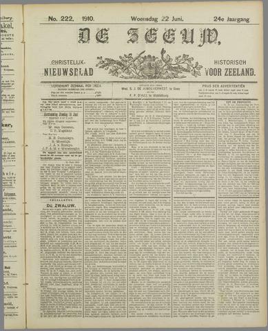 De Zeeuw. Christelijk-historisch nieuwsblad voor Zeeland 1910-06-22