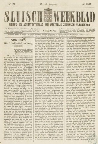 Sluisch Weekblad. Nieuws- en advertentieblad voor Westelijk Zeeuwsch-Vlaanderen 1866-07-06