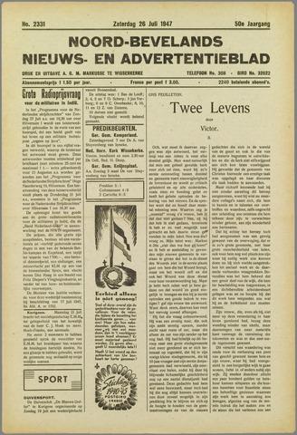 Noord-Bevelands Nieuws- en advertentieblad 1947-07-26