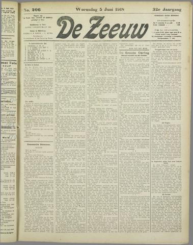 De Zeeuw. Christelijk-historisch nieuwsblad voor Zeeland 1918-06-05